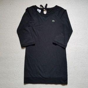 Lacoste 3/4 sleeve black fleece dress size 38 / M